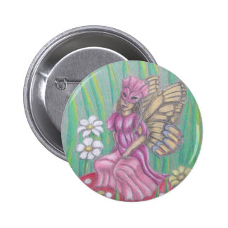 butterfly Lady Button
