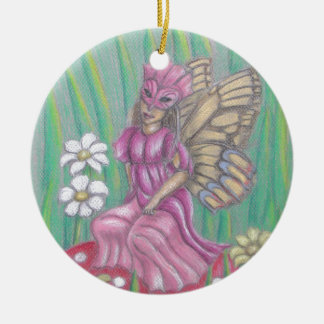 butterfly Lady Ceramic Ornament