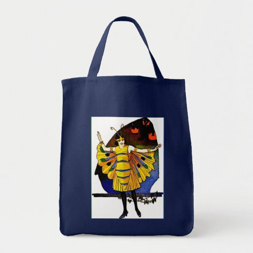 Butterfly Lady Grocery Tote Bag
