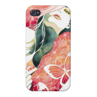 Butterfly Lady - iPhone 4 Case