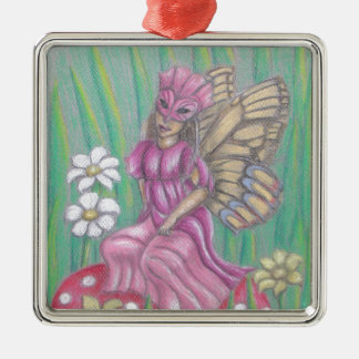 butterfly Lady Metal Ornament
