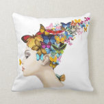 Butterfly Lady Pillow