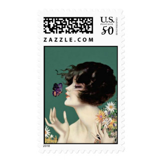 Butterfly Lady Stamp