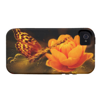 Butterfly Landing on Flower iPhone 4/4S Covers