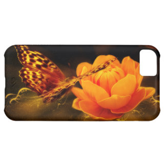 Butterfly Landing on Flower Cover For iPhone 5C