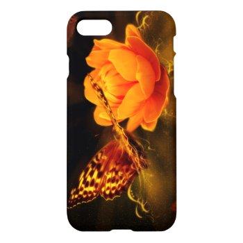 Butterfly Landing on Flower iPhone 7 Case