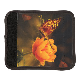Butterfly Landing on Flower Luggage Handle Wrap