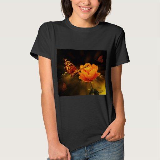 Butterfly Landing on Flower T-shirts
