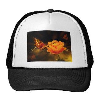 Butterfly Landing on Flower Trucker Hat