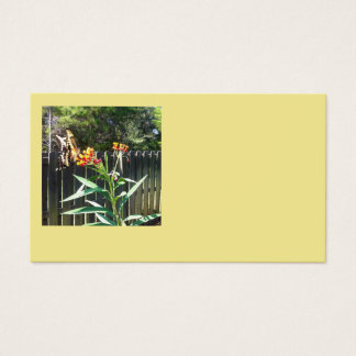 Butterfly landing on flowers business card
