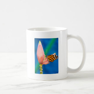 Butterfly Landing on Purple Flower Coffee Mug