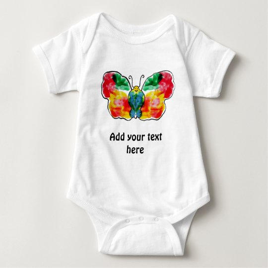 Butterfly - landscape template design baby bodysuit