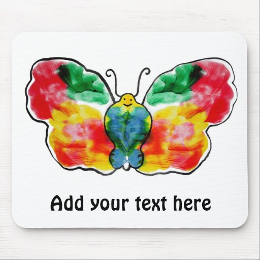 Butterfly - landscape template design mouse pad