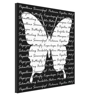 Butterfly Language Stretched Canvas Prints