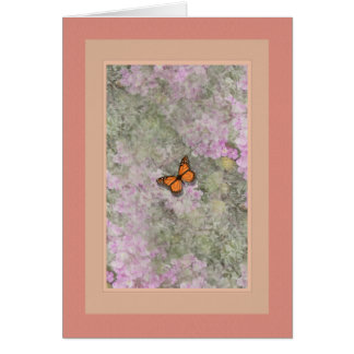 Butterfly ~ Lantana Flowers Card