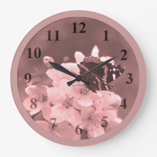Butterfly Large Round Wall Clock by Janz