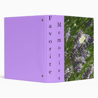 Butterfly, Lavender and Memories Album Binder