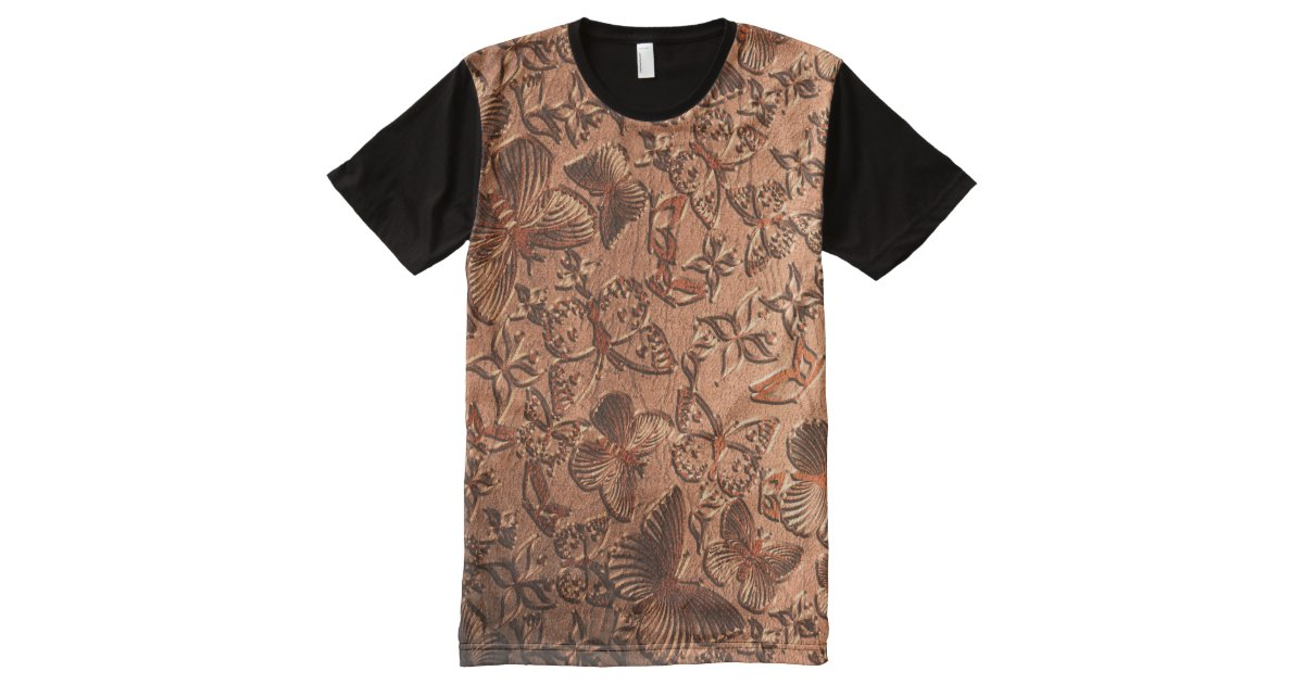 Butterfly leather 1 all over print shirt zazzle for Vista print tee shirt