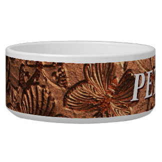 Butterfly Leather 1 Pet Bowl