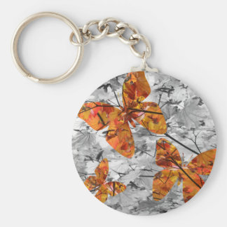 Butterfly Leaves Keychain