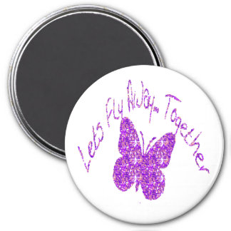 Butterfly Let's Fly Away Together Magnet