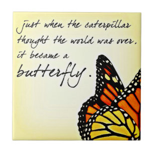 Butterfly Quote Ceramic Tiles | Zazzle