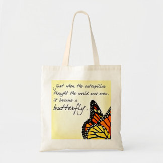 Butterfly Life Struggle Inspirational Quotes Tote Bag
