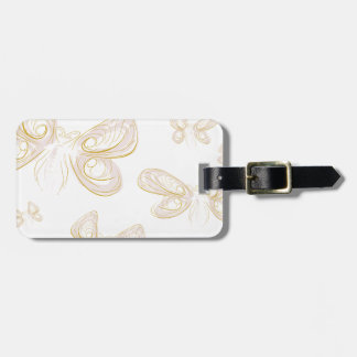 butterfly_light luggage tag