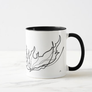 butterfly line drawing coffee mug