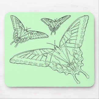 Butterfly Line Drawing Mouse Pad