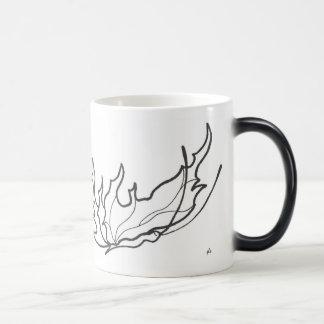 butterfly line drawing mug