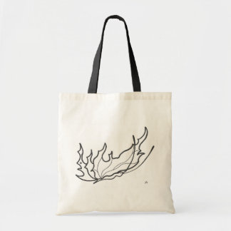 butterfly line drawing tote bag