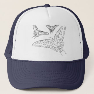 Butterfly Line Drawing Trucker Hat