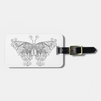 Butterfly Linework Large Luggage Tag