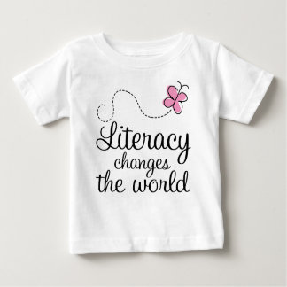 Butterfly Literacy Changes The World Gift Baby T-Shirt