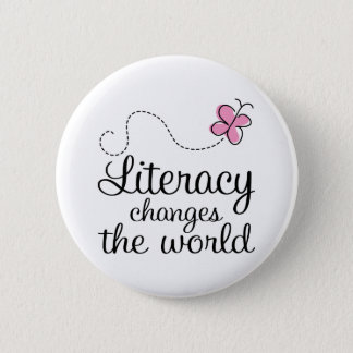 Butterfly Literacy Changes The World Gift Button