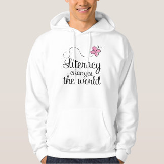 Butterfly Literacy Changes The World Gift Hoodie