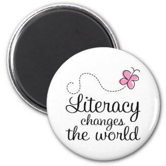 Butterfly Literacy Changes The World Gift Magnet