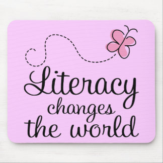 Butterfly Literacy Changes The World Gift Mouse Pad