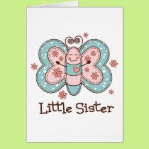 Butterfly Little Sister Card