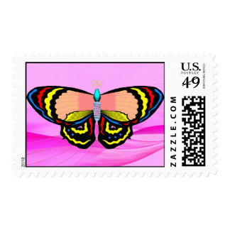 BUTTERFLY - LIVE LAUGH LOVE POSTAGE STAMP