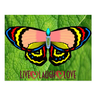 BUTTERFLY - LIVE LAUGH LOVE POSTCARD