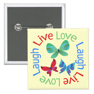 Butterfly - Live Love Laugh Pin