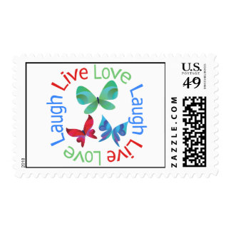 Butterfly - Live Love Laugh Postage Stamp