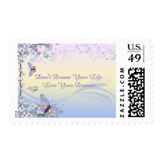 Butterfly Live Your Dreams Flower Stamp