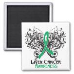 Butterfly Liver Cancer Awareness Fridge Magnets