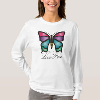 "Butterfly Logo ""Live Free"" Shirt"