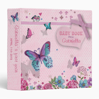 Butterfly Love | Baby Girl | Book Album Binder