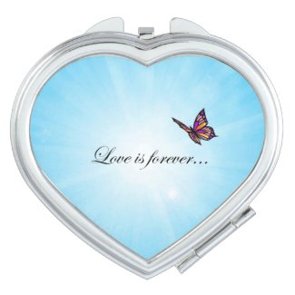 Butterfly LOVE Is Forever Compact Mirrors
