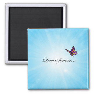 Butterfly LOVE Is Forever Magnet
